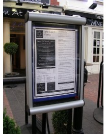 Exterior Glazed Rail Mounted Noticeboards Satin Silver Frame