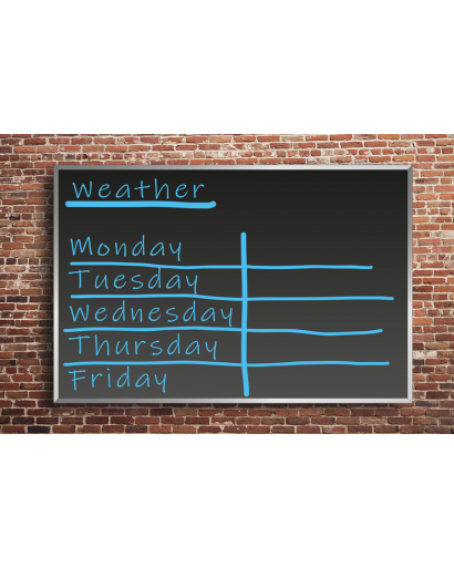 Flat Frame Outdoor Chalkboards Wall Mounted