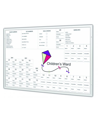 Non-Magnetic Flat Frame Printed Whiteboard