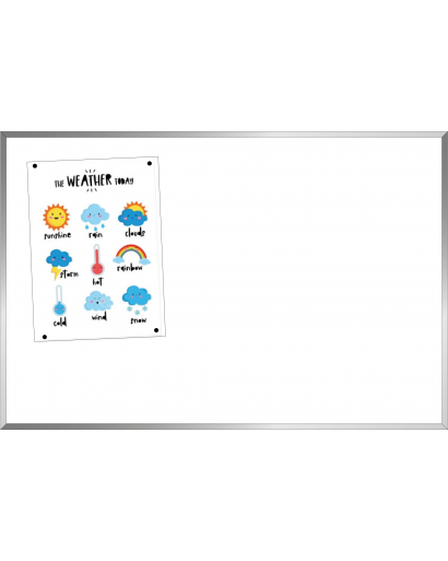 Flat Frame Outdoor Magnetic Whiteboard