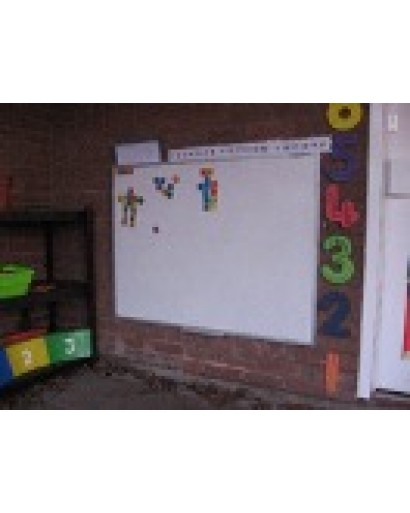 Flat Frame Wall Mounted Outdoor Whiteboard